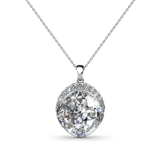 Yolora ketting - Swarovski kristal - Zilverkleurig - Dames - Crystal Crown - YO-078W