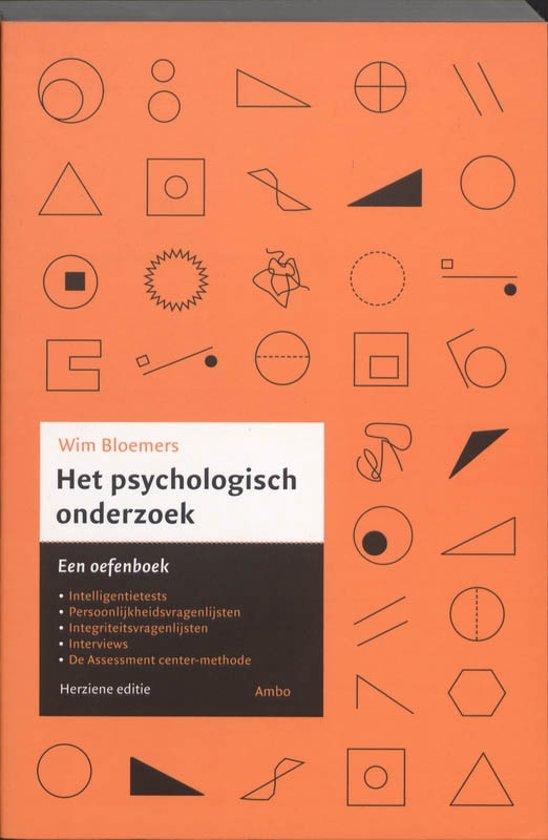 Het psychologisch onderzoek - Wim Bloemers