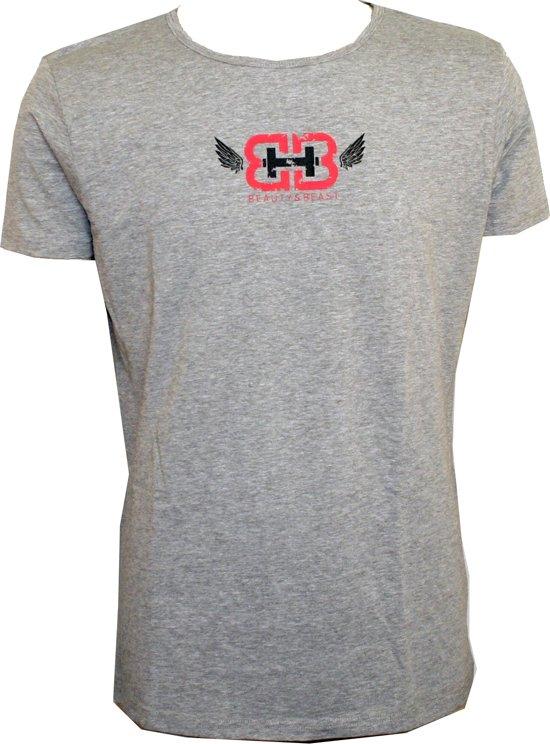 T'shirt Heren Grijs Maat XL| Shirt | Ronde Hals