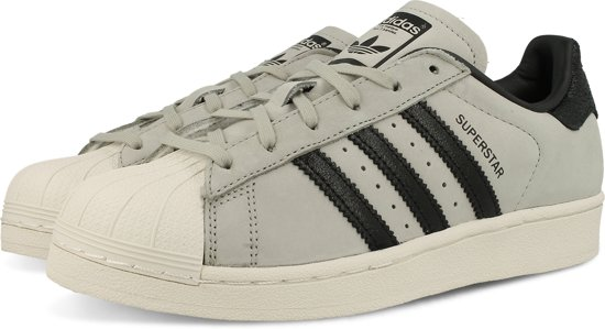 e739921f490 adidas SUPERSTAR FASHION J BY8883 - schoenen-sneakers - Vrouwen - grijs/ zwart -