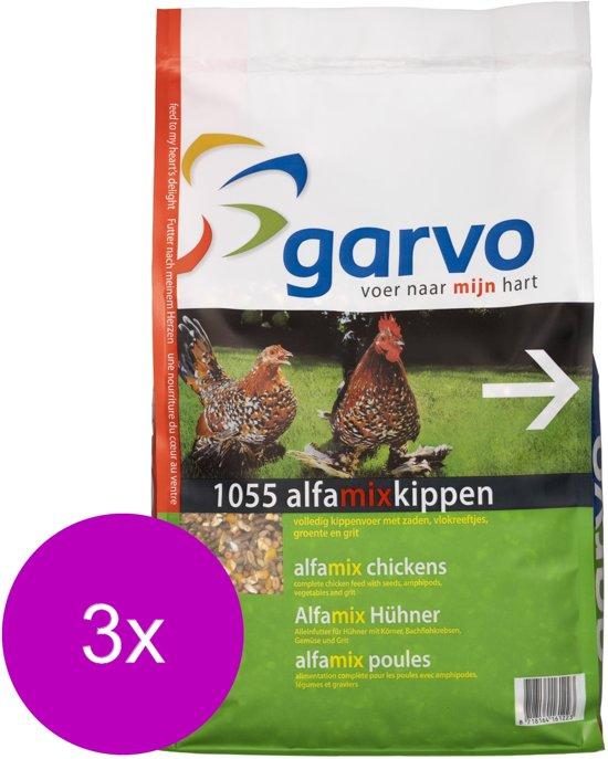 Garvo Alfamix Kippen - Kippenvoer - 3 x 4 kg