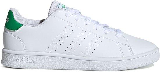 adidas Advantage K Jongens Sneakers - Ftwr White/Green/Grey Two F17 - Maat 31