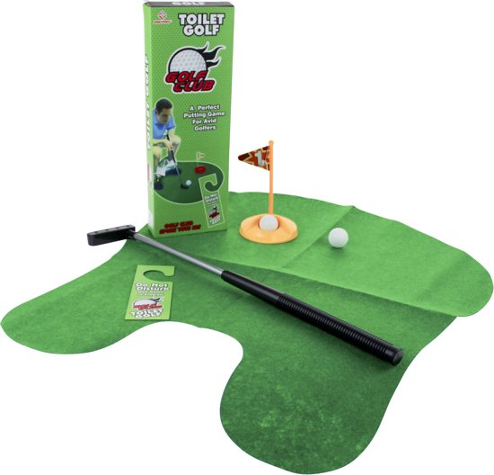 Golf Wc Mat.United Entertainment Toilet Golf Set