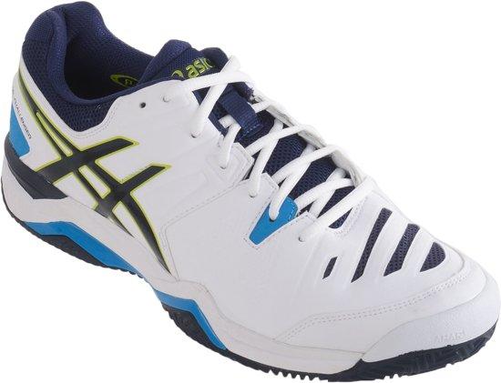 Asics Gel-Challenger 10 Clay Tennisschoenen - Maat 46.5 - Mannen - wit/blauw
