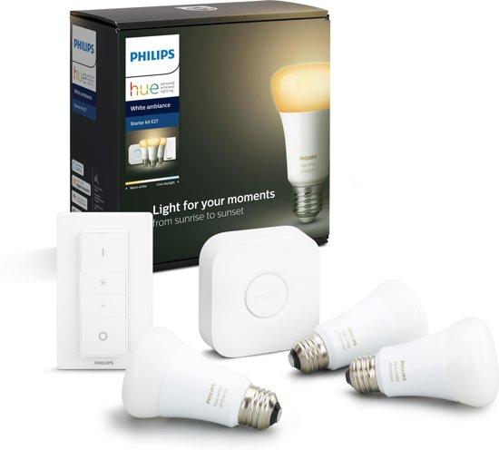 Philips Hue Starterspakket- White Ambiance - Slimme Verlichting - E27
