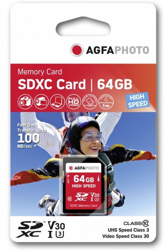 AgfaPhoto 64GB SDXC flashgeheugen Klasse 10