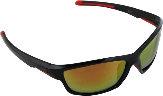0abf1e19e954c8 Zonnebril UV 400 Sport Rechthoek Polariserend Glas Rood Geel S371 5 GRATIS  Brillenkoker