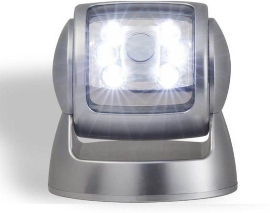 The Black Series - Draadloze Led Buitenlamp Met Bewegingssensor - Zuinige LED's - Zilver - 100% draadloos