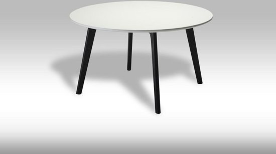 Bol.com solliden livie salontafel rond 80 cm zwart wit