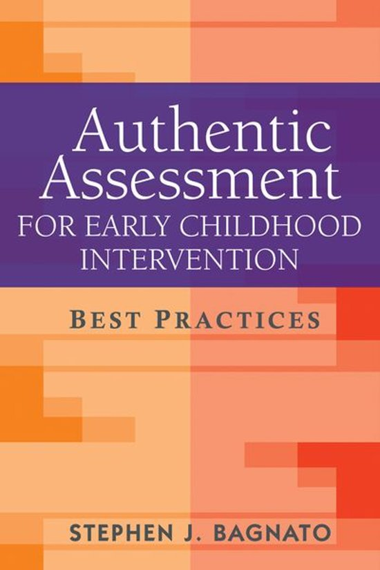 Bolcom Authentic Assessment For Early Childhood Intervention
