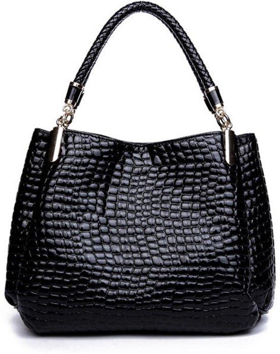 5ee43a12922 bol.com | Damestas zwart met krokodil motief