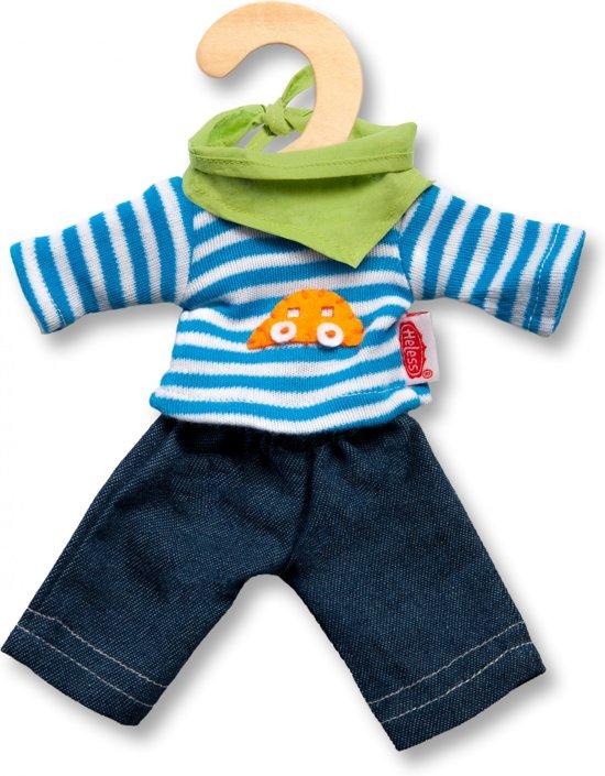 Heless poppen jeans en shirt voor popje van 15cm