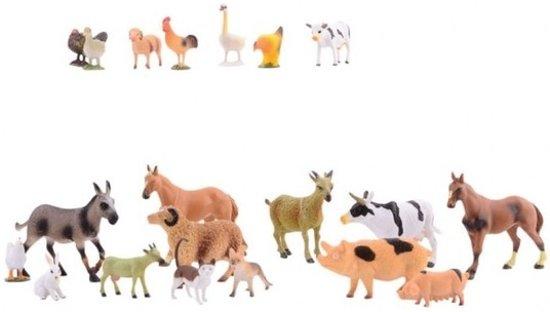 Plastic boerderij dieren 20 stuks