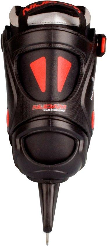 Nijdam 3353 Ijshockeyschaats - Semi-Softboot - Zwart/Oranje - Maat 41