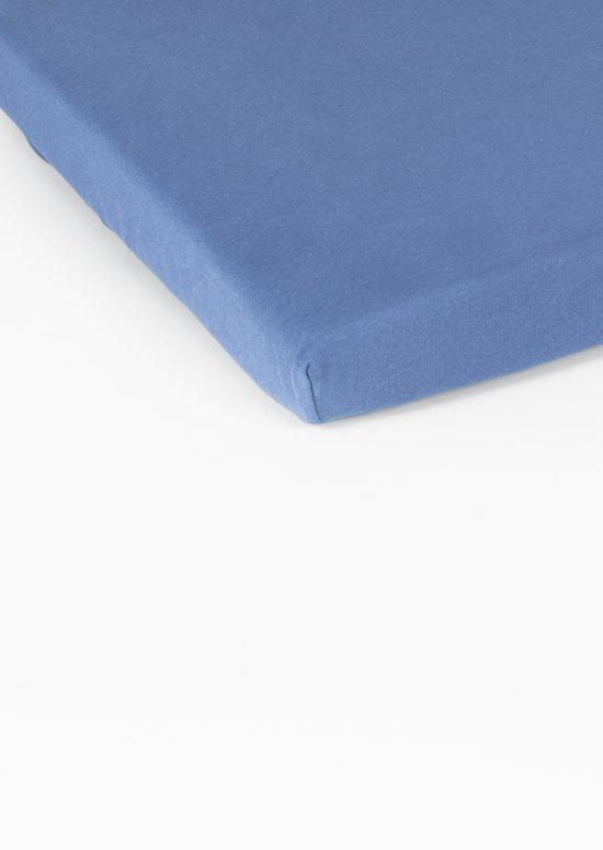 Nightlife Double Jersey Topper hoeslaken Blue-160/180 x 200/220 cm