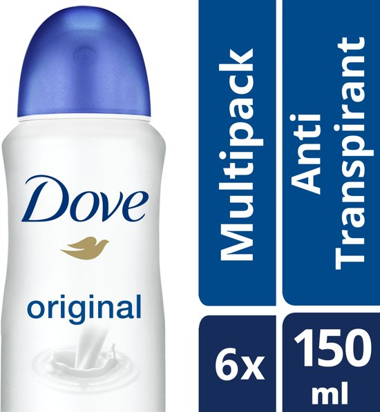Dove Original Women Deodorant - 6 x 150 ml - Voordeelverpakking