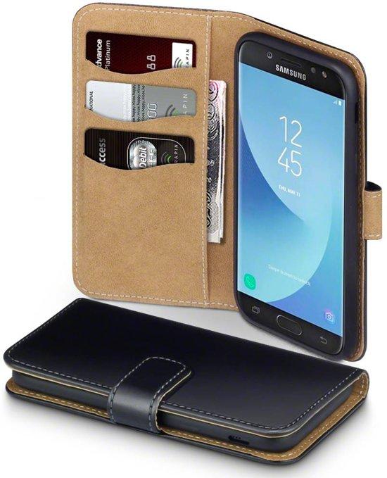 Qubits wallet TAN zwart hoes Samsung Galaxy J5 2017