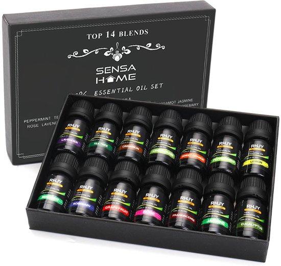14 Etherische Oliën 100% Puur en Natuurlijk Geschikt voor Aroma Diffuser| Essentiële Olie Set