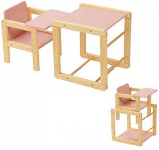 Eetstoel Met Tafel.Bol Com Playwood Poppen Kinderstoel Met Tafel Roze