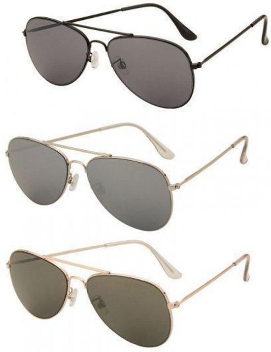 e876ccd96c6dd2 Piloten zonnebril met donkere glazen Zwart