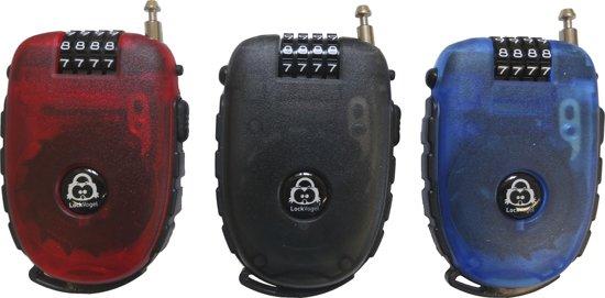 Lock-Vogel – Oprolbaar Kabelslot 120 cm zwart (cijfer-veiligheidsslot)
