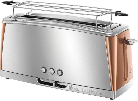 Russell Hobbs 24310-56 Luna Copper Broodrooster extra lang - Zilver