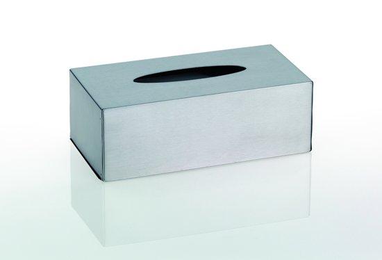 Favoriete bol.com   Tissue houder box rvs mat vrijstaand of wand hangend &VY19