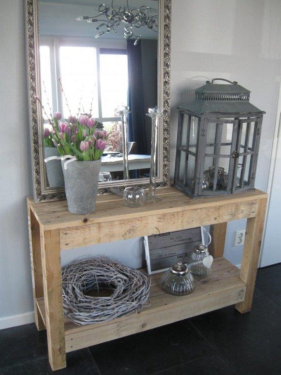 Side Table Voor Buiten.Sidetable Van Pallethout