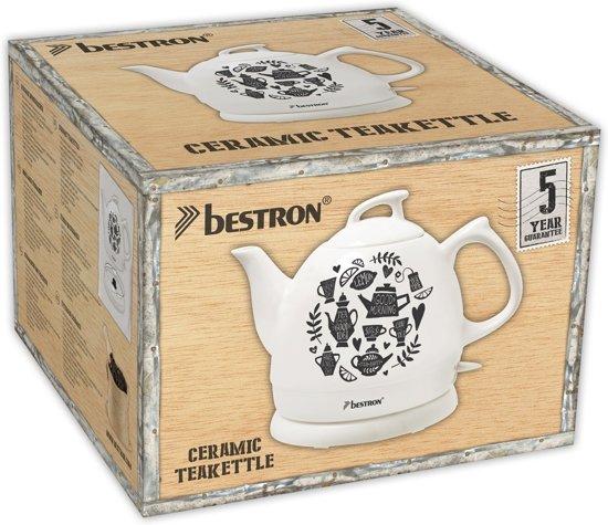 Bestron Waterkoker keramisch DTP800TP 0,8 L wit