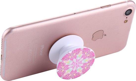 Telefoonbutton met ophangsysteem - Pink snowflake