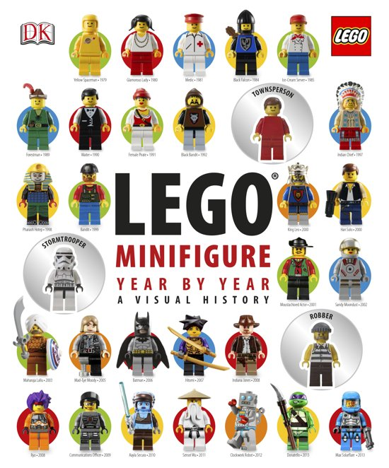 Boek cover LEGO (R) Minifigure Year by Year A Visual History van Dk (Hardcover)
