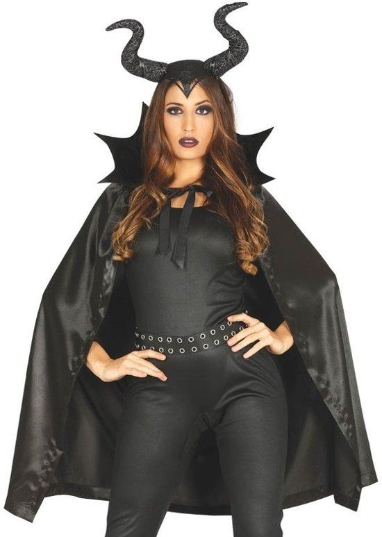 Halloween Kostuum.Bol Com Halloween Heks Met Hoorns Halloween Kostuum Cape