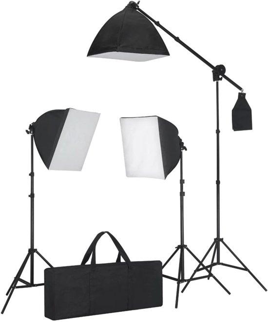 vidaXL - Studio lampenset met 3 daglichtlampen en softbox 40 x 40