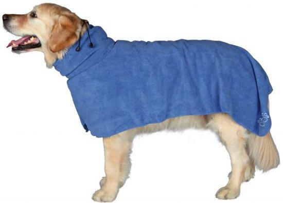Trixie badjas microvezel blauw s