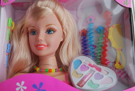 Kaphoofd Prinses met Make Up en Accessoires - 20 cm