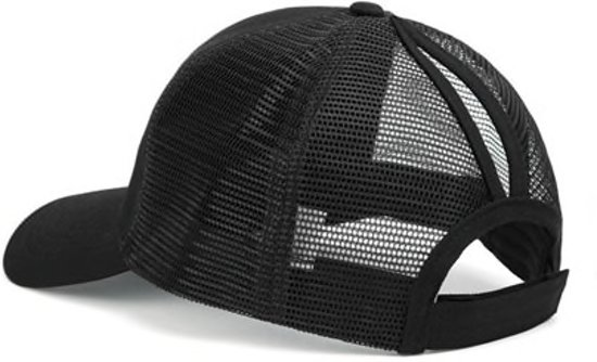 abc000f242fdd Pet voor staartje of knotje - Running Performance Cap - Hardloop Pet - Baseball  Trucker Cap