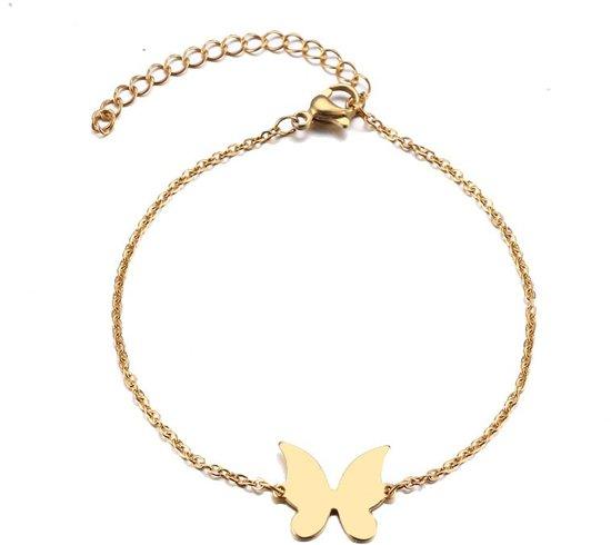RVS vlinder armband 17-20 cm | bff