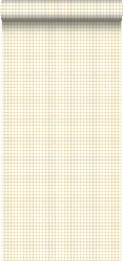 behang ruiten beige - 115748 ESTAhome.nl