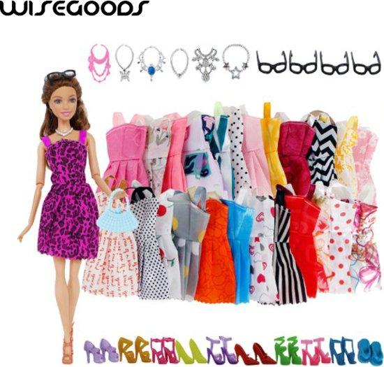 Barbie Pop - Barbie Kledingset - Barbie Kleren - Barbie Jurkjes - Poppenkleren - Modepoppen - 32 Accessoires