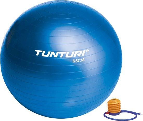 Tunturi  Fitnessbal - Ø 65 cm - Inclusief pomp - Blauw