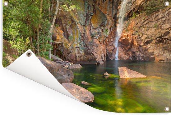 Mooie watervallen in het Nationaal park Kakadu in Australië Tuinposter 120x80 cm - Tuindoek / Buitencanvas / Schilderijen voor buiten (tuin decoratie)