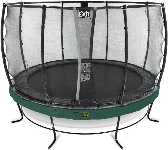 EXIT Elegant Premium trampoline ø366cm met veiligheidsnet Deluxe - groen