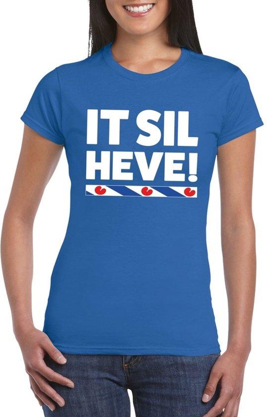 Blauw t-shirt Friesland It Sil Heve dames 2XL