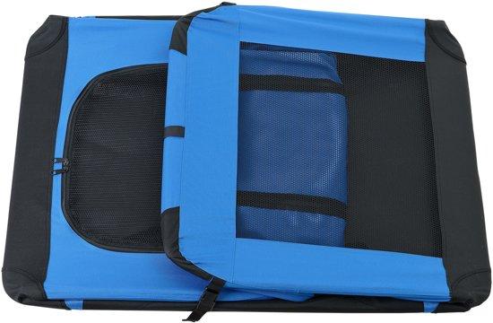 Dieren transportbox - reismand - koningsblauw - XXL