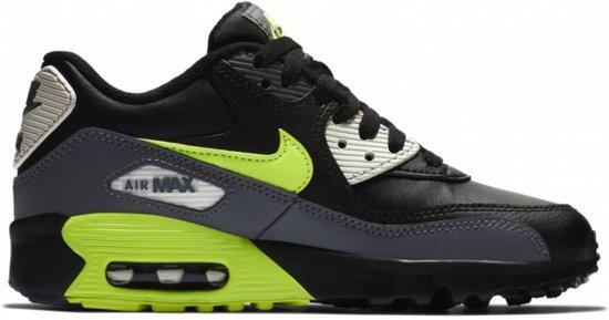 | Nike Air Max 90 Leather GS Dark Grey Volt Black