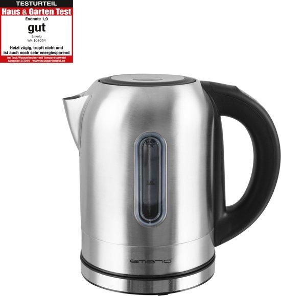 Emerio WK-108054 - 1.7l 2200W Zwart, Roestvrijstaal Waterkoker