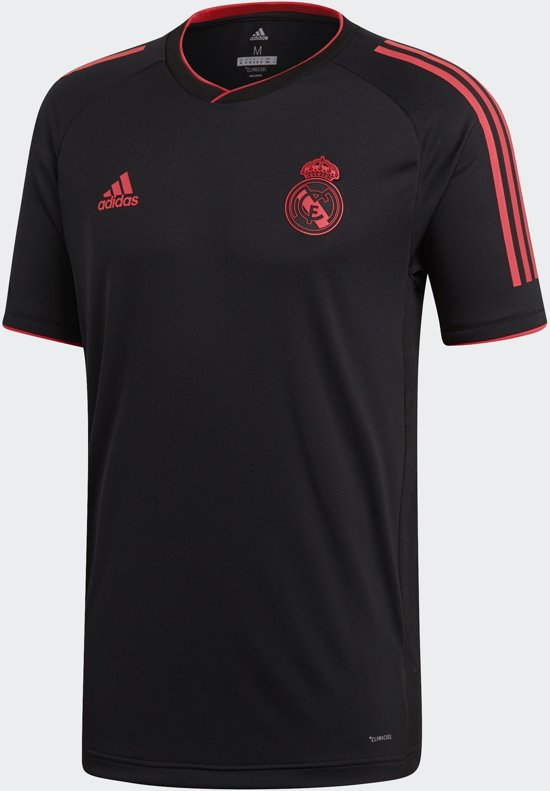 adidas Real Madrid CL Trainingsshirt Kinderen 2018/2019 - Black/Real Coral S18 - Maat S