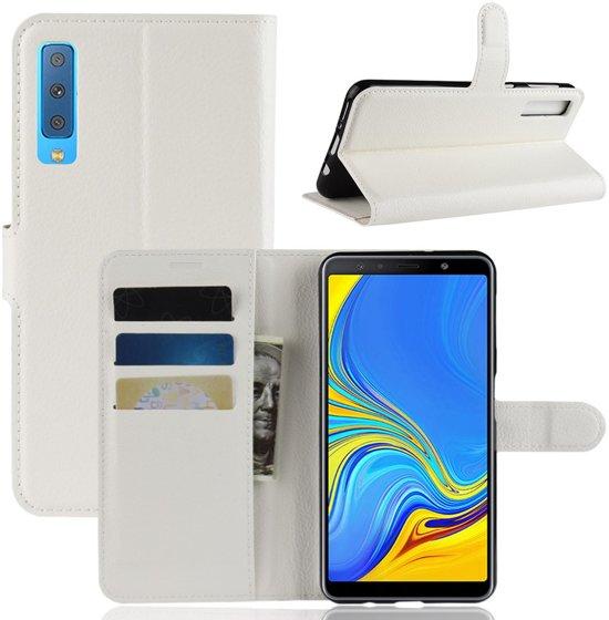 Book Case Samsung Galaxy A7 (2018) Hoesje - Wit
