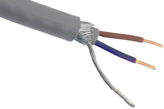 Grondkabel XMvK-as - 2 x 2,5 mm² - 25 meter