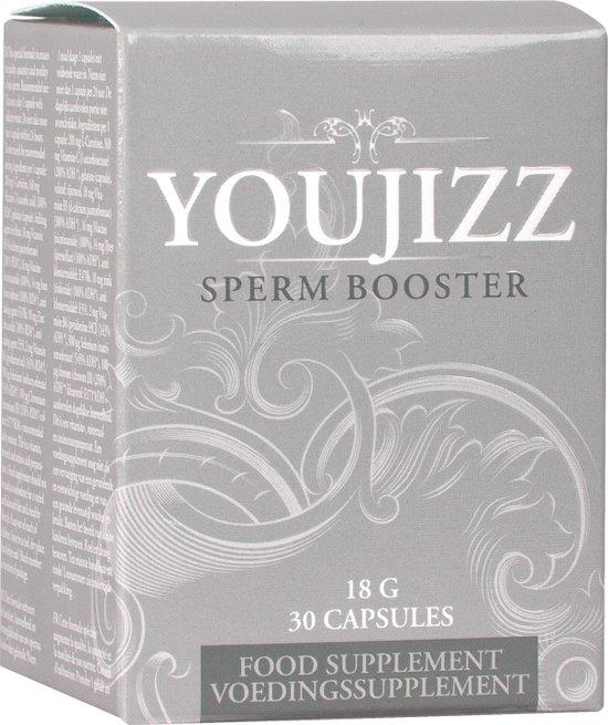 Shots Pharmquests erectie formule Youjizz Spermbooster - 30 Capsules wit,grijs